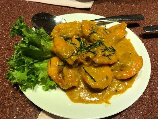Andart Rorm Seafood Restaurant: エビの料理