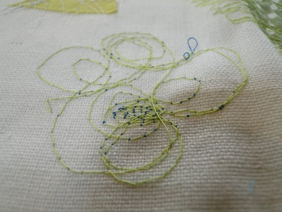 Freehand Machine Embroidery Detail From The Workshop Picture Of
