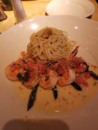 Shrimp With Lemon Basil And Angel Hair Pasta Picture Of The