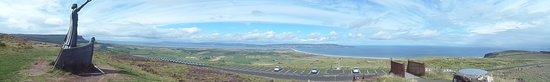 Manannán Mac Lir: panoramafoto vanop Bineenagh Mountain