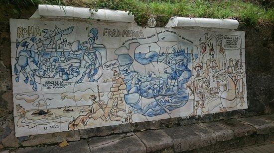 Linares de Ribadesella, Hiszpania: Paneles de Mingote