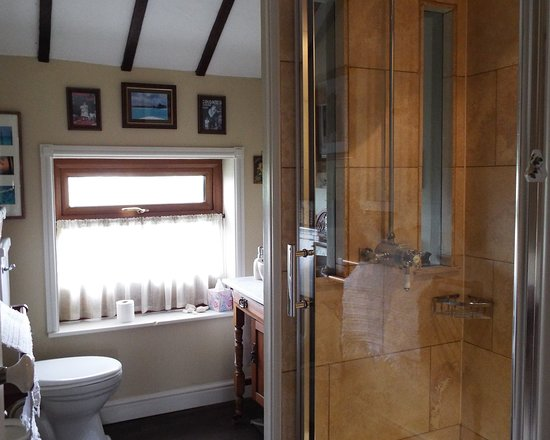 Hatherleigh, UK : Washroom with shower