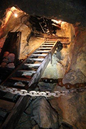 Wildschonau, Austria: Der er meget lidt plads i minen - små gange