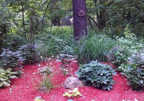 Plant's Herb Farm Bed & Breakfast: Shade gardens at Plant's Herb Farm B & B