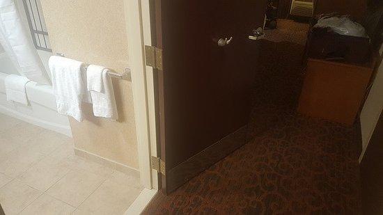Bathroom door too close to dresser