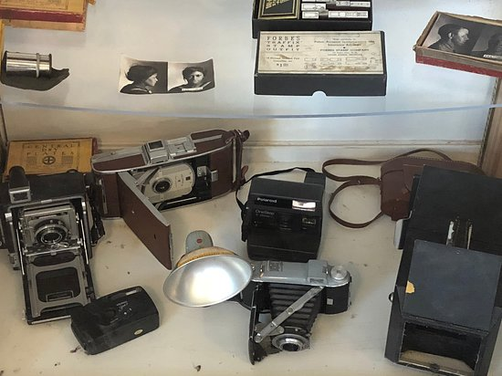 Philipsburg, MT: display of cameras