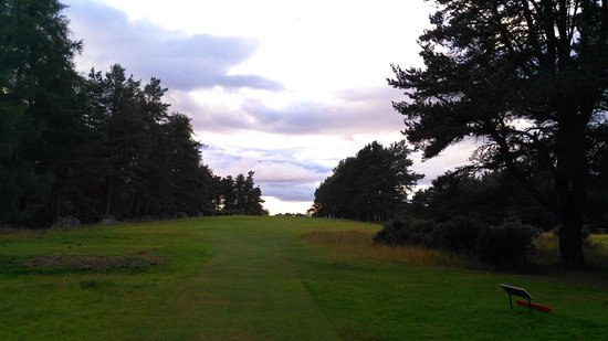 Bonar Bridge, UK: Par 4 9th hole tee shot - Put that driver away!