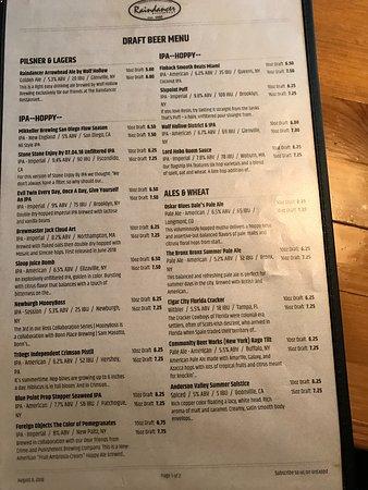 Amsterdam, NY: Beer list