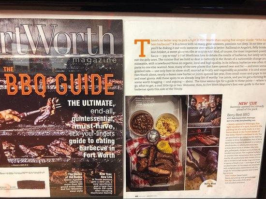 Watauga, TX: Our Article in the Fort Worth Magazine BBQ Guide Addition Jan 2018 Issue