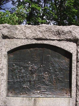 Storer Garrison State Historic Site: ME - WELLS - STORER GARRISON SHS - CLOSE UP OF COMMEMORATIVE MONUMENT