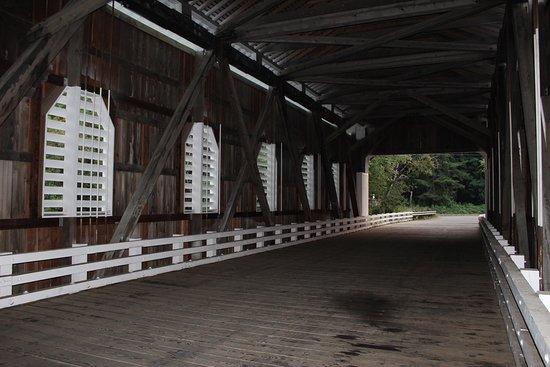 Dorena, Oregón: It was fun to walk through all of the bridges.