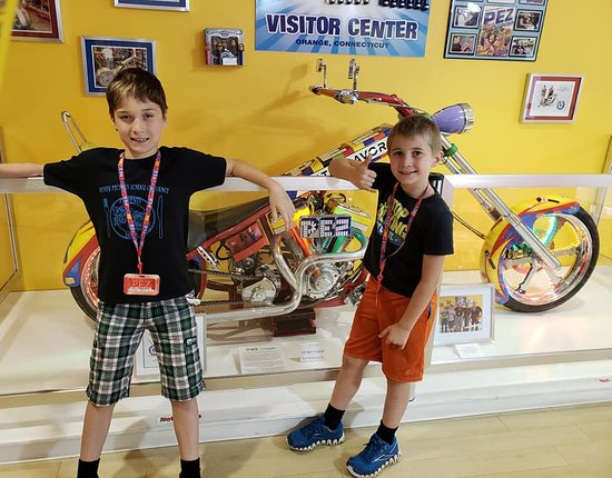 Orange, CT: The boys loved the motorcycle