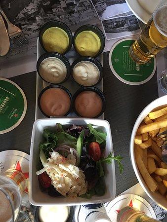 Westenschouwen, The Netherlands: Sauces Maison accompagnant les moules