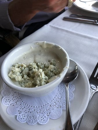 the blue cheese dressing