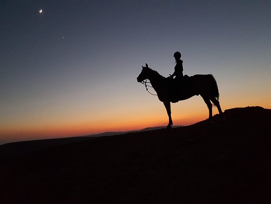 Hadera, Israel: Riding by moonlight by at Ramon Crater