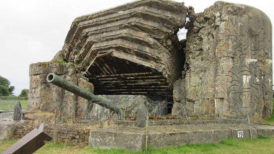 Batteries de Crisbecq: een bunker met originele kanon