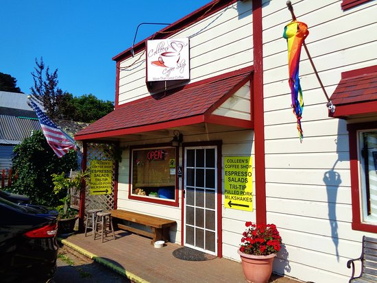 Bodega, Kalifornien: Outside of Colleens Coffee Shop!