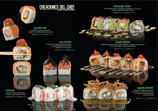 Sakura Sushi: Creaciones del Chef / Chef´s Creations