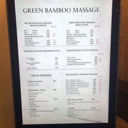Green Bamboo Massage