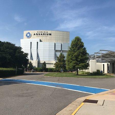 Virginia Aquarium & Marine Science Center: signage at the street and exterior shots