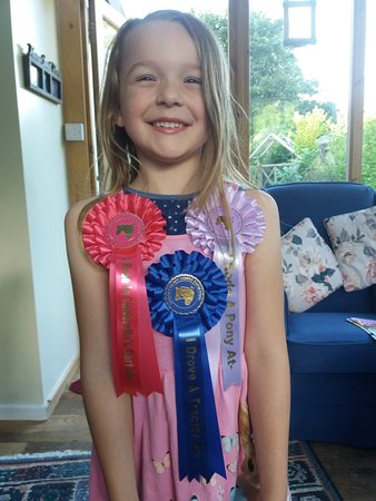 Verwood, UK: one happy granddaughter