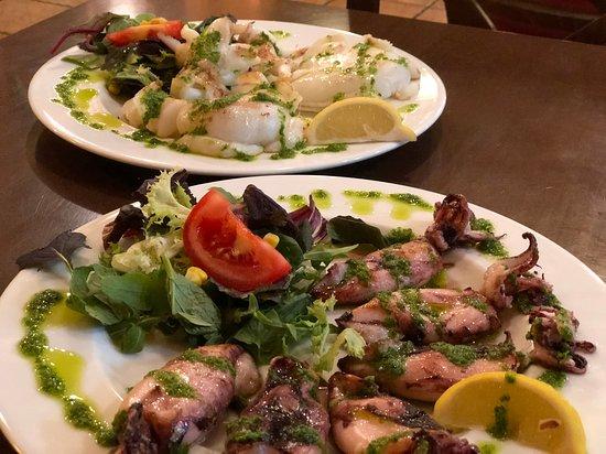 Pasko's Balkan Grill: Calamares and Sepia a la Plancha
