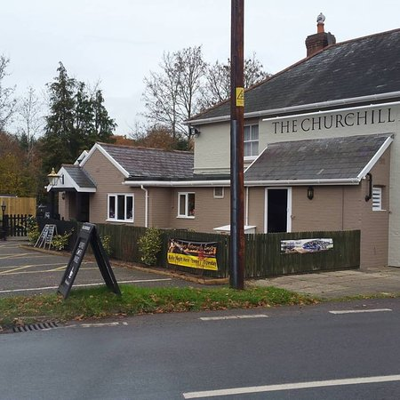 Alderholt, UK: car park side 2