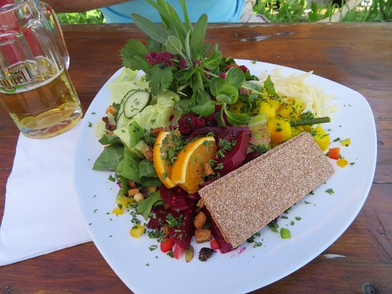 Joehstadt, Germany: Salad made with lots of fresh herbs from their garden!