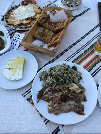 Very delicious fresh lamb dishes and homemade cheese