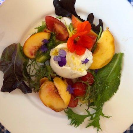 Shanagarry, Ireland: Buffalo mozzarella-beautiful plate