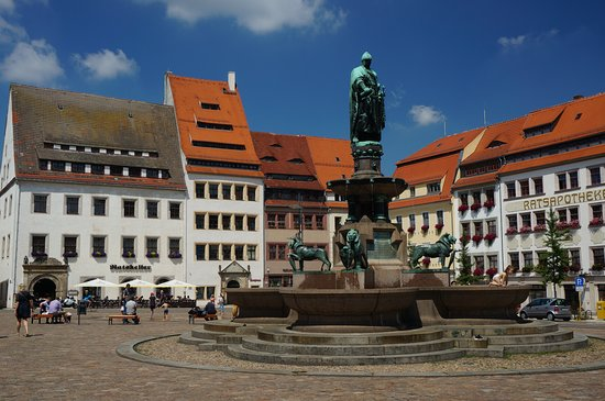 Freiberg, Niemcy: the fountain