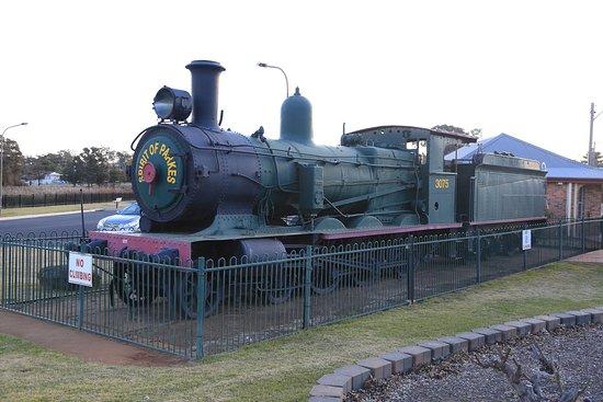 Parkes, Australia: 3075 'S' Class Steam Locomotive, Kelly Reserve, 30.07.18
