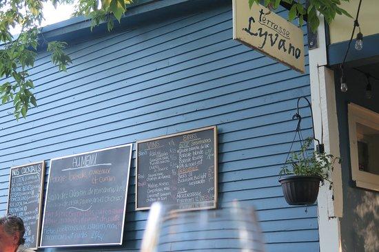 Frelighsburg, Canada: Le menu.