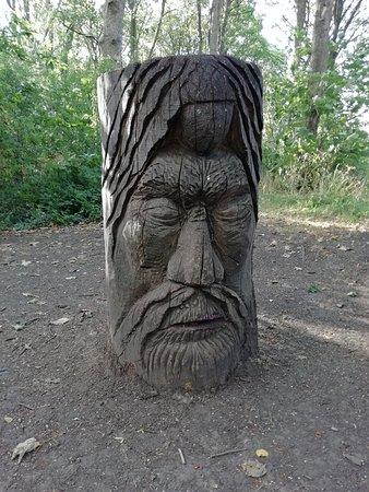 Meersbrook Park: a wooden sculpture