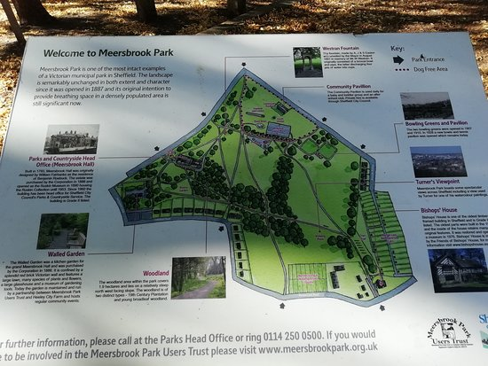 Meersbrook Park: a map of the park