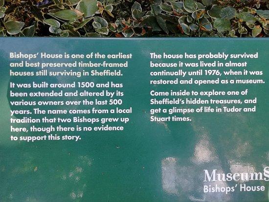 Meersbrook Park: info about Bishop's House