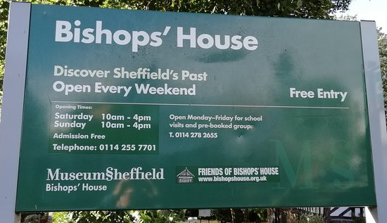 Meersbrook Park: Bishop's House schedule