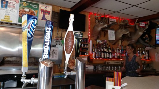 Pam's Boiling Springs Tavern - Hwy G Pelican Lake WI - cold beer , friendly service , delicious
