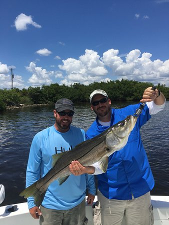 Boca Grande, FL: Justin and Chaz from Kentucky with a big snook.