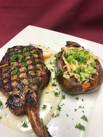 West Hazleton, PA: Ribeye and Stuffed Sweet Potato