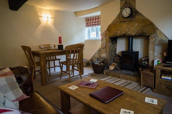 Odcombe, UK: Poppy cottage living room
