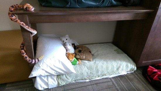 Artesia, NM: Bed made up for my son by housekeeping