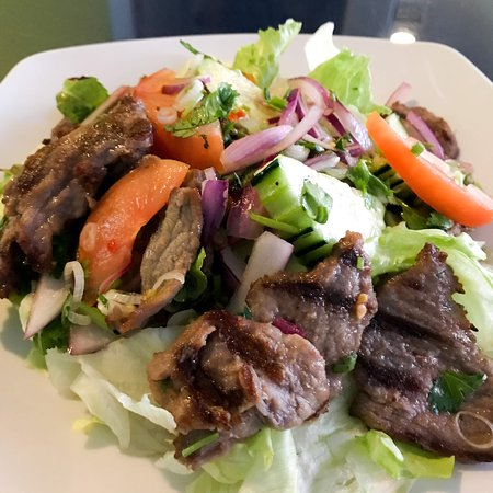 Blue Orchid: Thai beef salad, dressed with fresh lime juice dressing