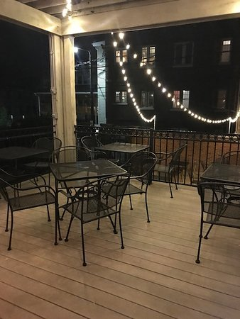 Our back deck is waiting for you to sit under the stars with your friends!