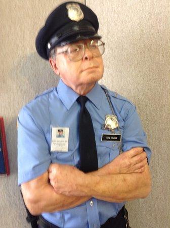 Logan, KS: Guard on duty 24/7 very life-like