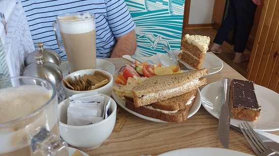 Isle of Berneray, UK: Crab sandwiches