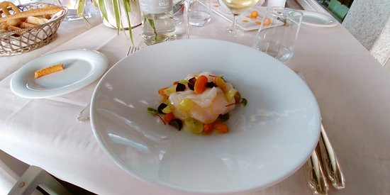 Bodio Lomnago, Italia: Ventaglio di capesante con foie gras