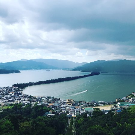 Amanohashidate: 天橋立觀景台望天橋立一隅