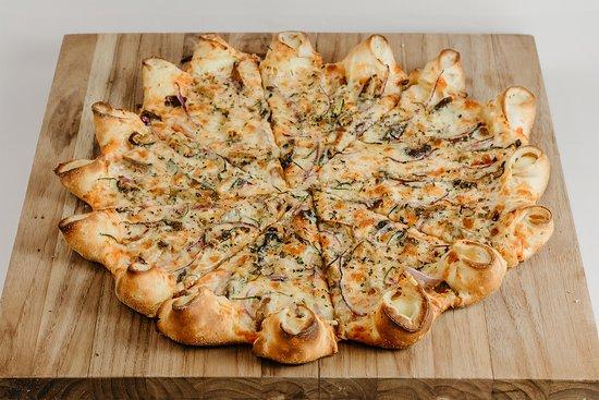 Pizza de Shitake com Borda Vulcão