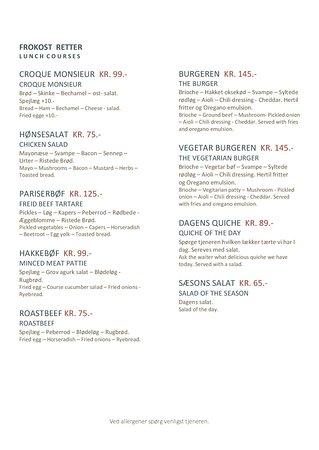 Vejby, Danmark: Frokost / Lunch
